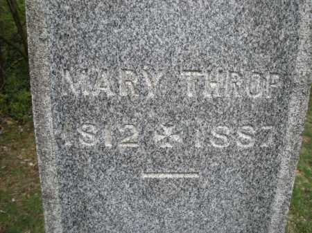 THROP, MARY - Warren County, Ohio | MARY THROP - Ohio Gravestone Photos