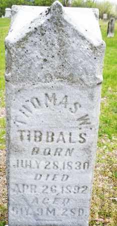 TIBBALS, TTHOMAS W - Warren County, Ohio | TTHOMAS W TIBBALS - Ohio Gravestone Photos