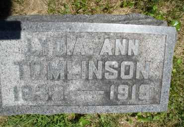 TOMLINSON, LYDIA ANN - Warren County, Ohio | LYDIA ANN TOMLINSON - Ohio Gravestone Photos