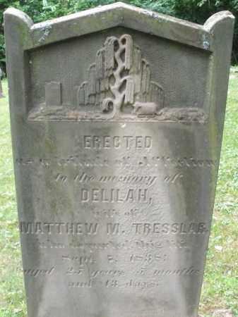 TRESSLAR, DELILAH - Warren County, Ohio   DELILAH TRESSLAR - Ohio Gravestone Photos