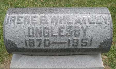 WHEATLEY UNGLESBY, IRENE B. - Warren County, Ohio | IRENE B. WHEATLEY UNGLESBY - Ohio Gravestone Photos
