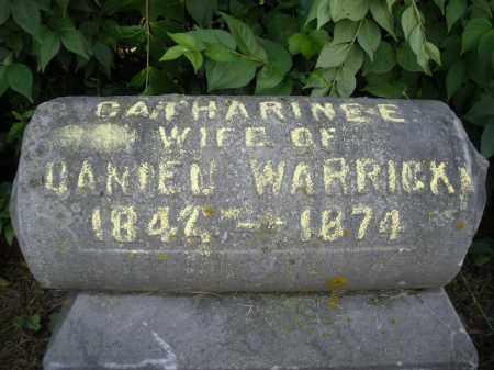 WARRICK, CATHARINE - Warren County, Ohio | CATHARINE WARRICK - Ohio Gravestone Photos