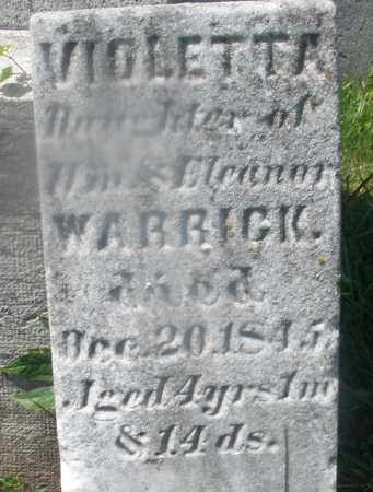 WARRICK, VIOLETTA - Warren County, Ohio | VIOLETTA WARRICK - Ohio Gravestone Photos