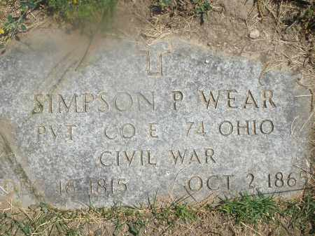 WEAR, SIMPSON P. - Warren County, Ohio | SIMPSON P. WEAR - Ohio Gravestone Photos