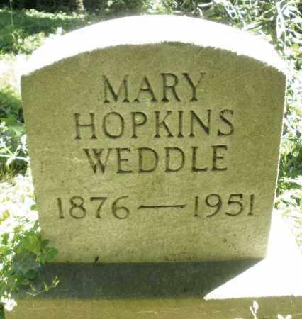 HOPKINS WEDDLE, MARY - Warren County, Ohio | MARY HOPKINS WEDDLE - Ohio Gravestone Photos