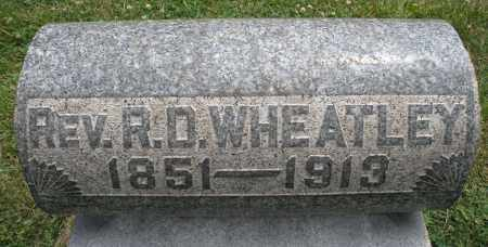 WHEATLEY, REV. R.D. - Warren County, Ohio | REV. R.D. WHEATLEY - Ohio Gravestone Photos