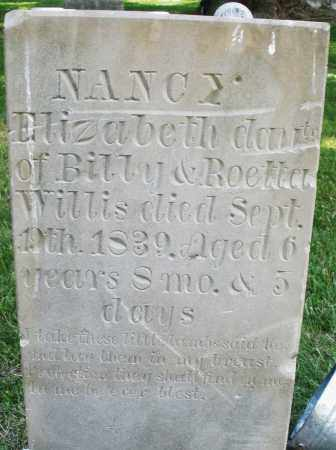 WILLIS, NANCY ELIZABETH - Warren County, Ohio   NANCY ELIZABETH WILLIS - Ohio Gravestone Photos