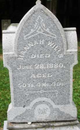 WILLS, HANNAH - Warren County, Ohio   HANNAH WILLS - Ohio Gravestone Photos