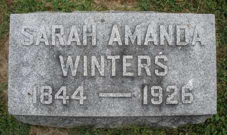 WINTERS, SARAH  AMANDA - Warren County, Ohio | SARAH  AMANDA WINTERS - Ohio Gravestone Photos