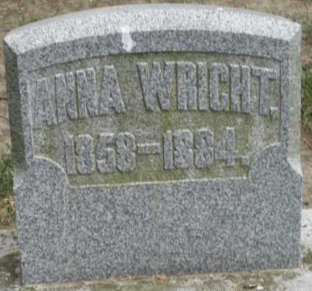 WRIGHT, ANNA - Warren County, Ohio | ANNA WRIGHT - Ohio Gravestone Photos
