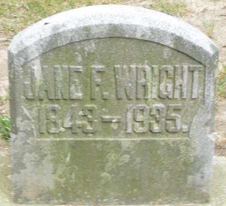 WRIGHT, JANE F. - Warren County, Ohio   JANE F. WRIGHT - Ohio Gravestone Photos