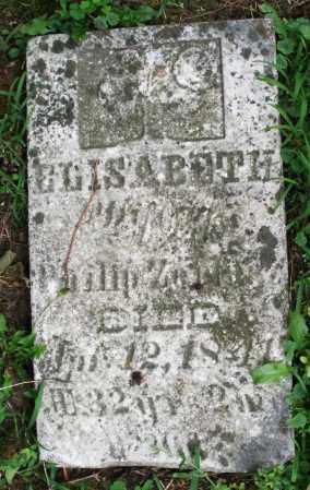 ZELLER, ELISABETH - Warren County, Ohio | ELISABETH ZELLER - Ohio Gravestone Photos