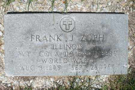 ZOPH, FRANK J. - Warren County, Ohio | FRANK J. ZOPH - Ohio Gravestone Photos