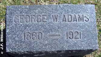ADAMS, GEORGE W. - Washington County, Ohio | GEORGE W. ADAMS - Ohio Gravestone Photos