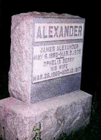 BERRY ALEXANDER, OPHELIA - Washington County, Ohio | OPHELIA BERRY ALEXANDER - Ohio Gravestone Photos