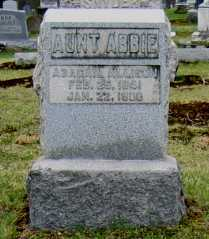 ALLISON, ABAGAIL (AUNT ABBIE) - Washington County, Ohio | ABAGAIL (AUNT ABBIE) ALLISON - Ohio Gravestone Photos