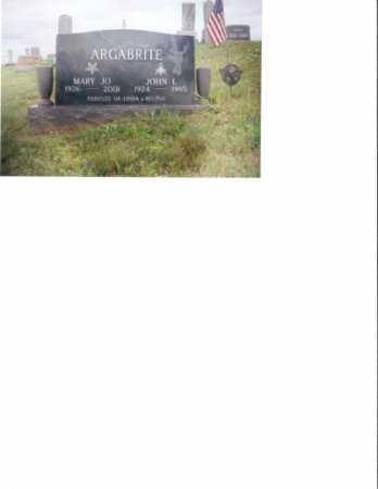 ARGABRITE, JOHN L. - Washington County, Ohio | JOHN L. ARGABRITE - Ohio Gravestone Photos