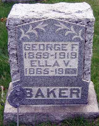 BAKER, ELLA V. - Washington County, Ohio | ELLA V. BAKER - Ohio Gravestone Photos