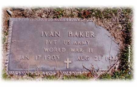 BAKER, IVAN - Washington County, Ohio | IVAN BAKER - Ohio Gravestone Photos