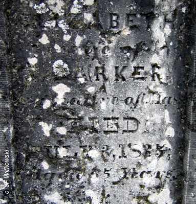 BARKER, ELIZABETH - Washington County, Ohio | ELIZABETH BARKER - Ohio Gravestone Photos