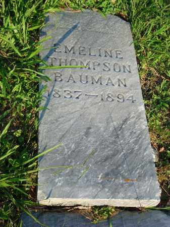 THOMPSON BAUMAN, EMELINE - Washington County, Ohio | EMELINE THOMPSON BAUMAN - Ohio Gravestone Photos