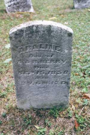BERRY, ABALINE - Washington County, Ohio   ABALINE BERRY - Ohio Gravestone Photos