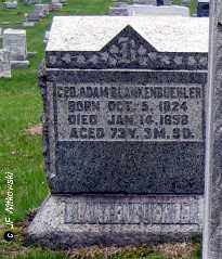 BLANKENBUEHLER, GEORGE ADAM - Washington County, Ohio   GEORGE ADAM BLANKENBUEHLER - Ohio Gravestone Photos