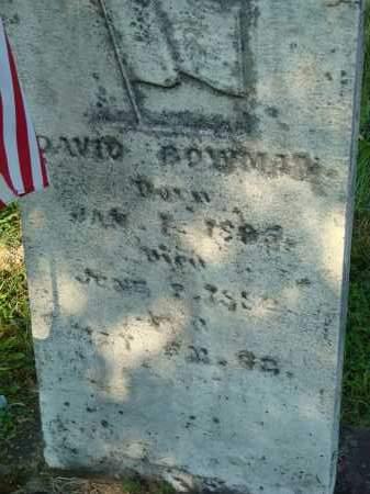 BOWMAN, DAVID - Washington County, Ohio | DAVID BOWMAN - Ohio Gravestone Photos