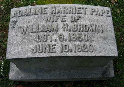 BROWN, ADALINE HARRIET - Washington County, Ohio | ADALINE HARRIET BROWN - Ohio Gravestone Photos