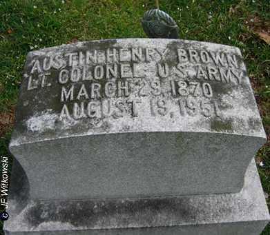 BROWN, AUSTIN HENRY - Washington County, Ohio | AUSTIN HENRY BROWN - Ohio Gravestone Photos