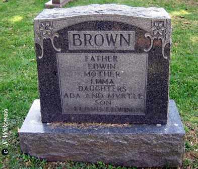 BROWN, EDWIN - Washington County, Ohio | EDWIN BROWN - Ohio Gravestone Photos
