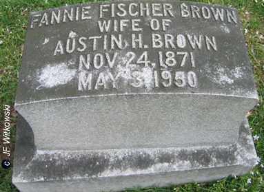 BROWN, FANNIE - Washington County, Ohio   FANNIE BROWN - Ohio Gravestone Photos