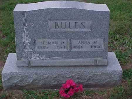 BULES, ANNA MATILDA - Washington County, Ohio   ANNA MATILDA BULES - Ohio Gravestone Photos