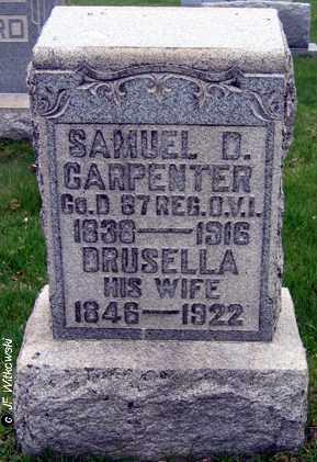 CARPENTER, SAMUEL D. - Washington County, Ohio   SAMUEL D. CARPENTER - Ohio Gravestone Photos