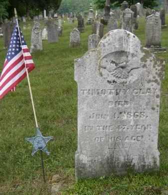 CLAY, TIMOTHY - Washington County, Ohio   TIMOTHY CLAY - Ohio Gravestone Photos