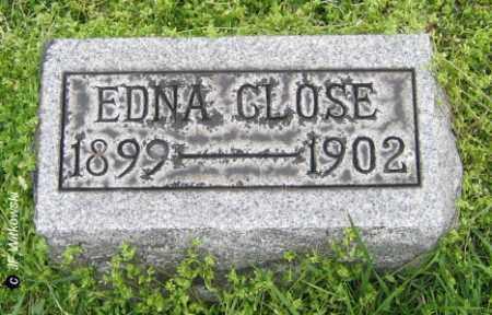 CLOSE, EDNA - Washington County, Ohio   EDNA CLOSE - Ohio Gravestone Photos