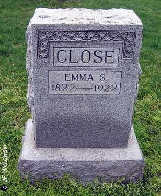 CLOSE, EMMA S. - Washington County, Ohio | EMMA S. CLOSE - Ohio Gravestone Photos