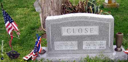 CLOSE, JOHN A. - Washington County, Ohio | JOHN A. CLOSE - Ohio Gravestone Photos