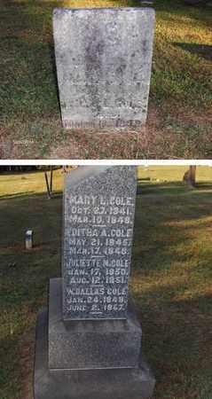 COLE, MARY L - Washington County, Ohio | MARY L COLE - Ohio Gravestone Photos
