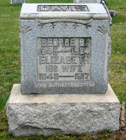REINHART DAVIS, ELIZABETH - Washington County, Ohio | ELIZABETH REINHART DAVIS - Ohio Gravestone Photos