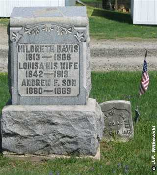 DAVIS, LOUISA JANE - Washington County, Ohio | LOUISA JANE DAVIS - Ohio Gravestone Photos