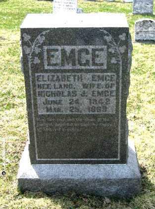 "EMGE, CLARE ELIZABETH ""LIZZIE"" - Washington County, Ohio | CLARE ELIZABETH ""LIZZIE"" EMGE - Ohio Gravestone Photos"