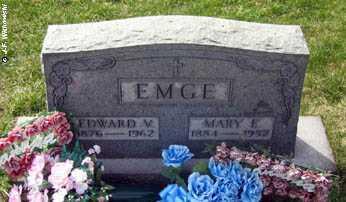 EMGE, EDWARD VALENTINE - Washington County, Ohio | EDWARD VALENTINE EMGE - Ohio Gravestone Photos