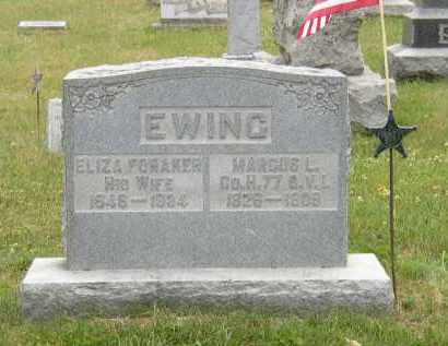 EWING, ELIZA - Washington County, Ohio | ELIZA EWING - Ohio Gravestone Photos