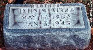 GIBBS, JOHN WILLIAM - Washington County, Ohio | JOHN WILLIAM GIBBS - Ohio Gravestone Photos