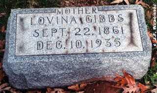 MCCORMICK GIBBS, LOVINA - Washington County, Ohio   LOVINA MCCORMICK GIBBS - Ohio Gravestone Photos