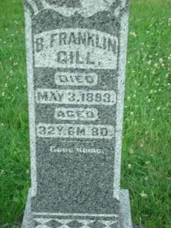 GILL, B. FRANKLIN - Washington County, Ohio   B. FRANKLIN GILL - Ohio Gravestone Photos