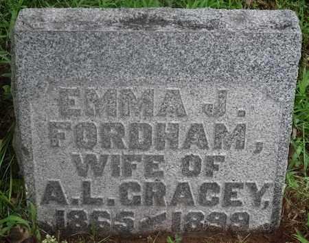 FORDHAM GRACEY, EMMA J. - Washington County, Ohio | EMMA J. FORDHAM GRACEY - Ohio Gravestone Photos
