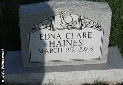 HAINES, EDNA CLARE - Washington County, Ohio | EDNA CLARE HAINES - Ohio Gravestone Photos
