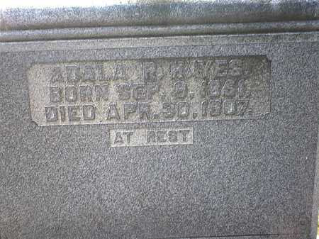 SEELY HAYES, ADALA R. - Washington County, Ohio | ADALA R. SEELY HAYES - Ohio Gravestone Photos